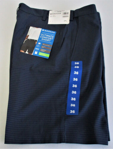 Haggar Men/'s Ultimate Comfort Short 412 Navy You Pick Size NWT