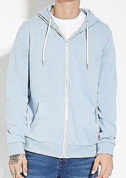 Mens Soulstar Hoodie American Plain Fleece Zip Up Sweatshirt Hooded Top Hoody