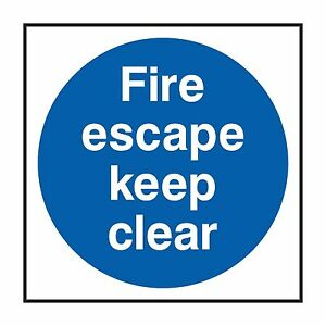 1x-FIRE-ESCAPE-KEEP-CLEAR-Warning-Sticker-for-Stairs-Door-Truck-Box-Bumper-Home
