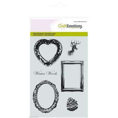 Craft Emotions Clear Rubber Stamps A6 WINTER WOODS COLLECTION