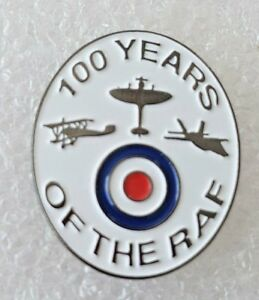 100 Years of the RAF Commemorative Pin Badge Royal Air Force 1918-2018
