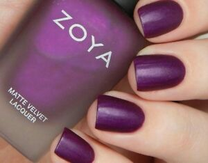 Zoya Matte Velvet Nail Polish .5 oz Iris Purple New | eBay
