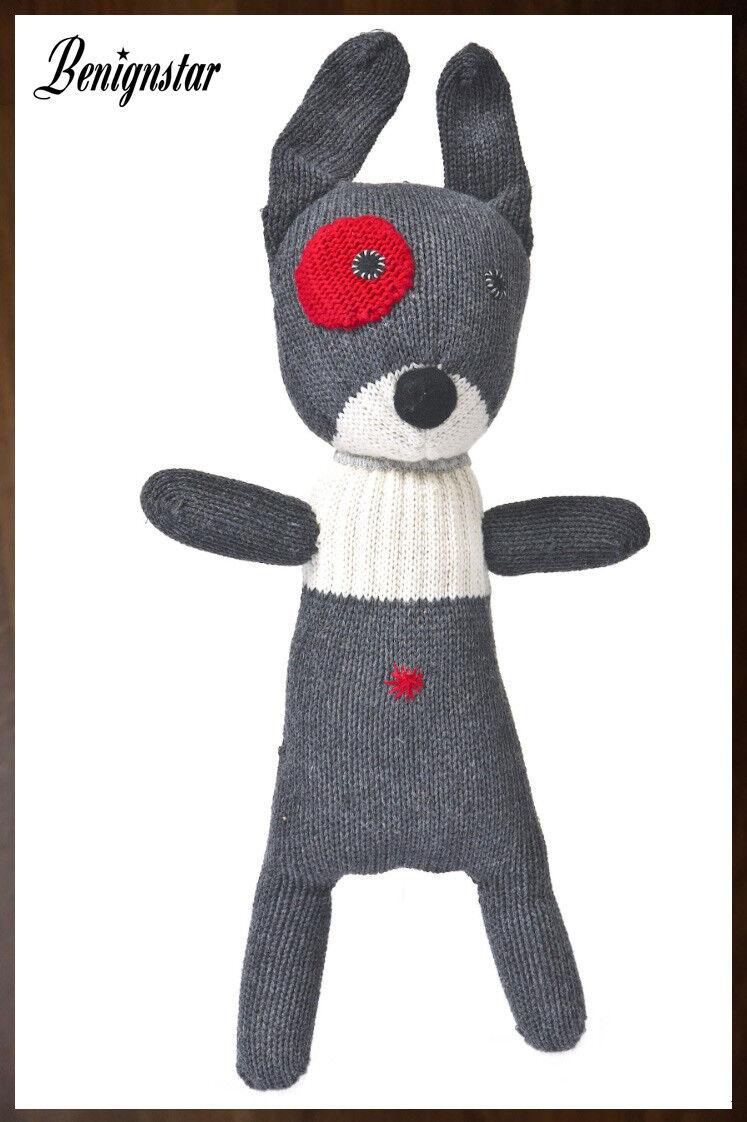 Anne Claire Petit Small Dog peluche nuovo giocattolo morbido all'uncinetto