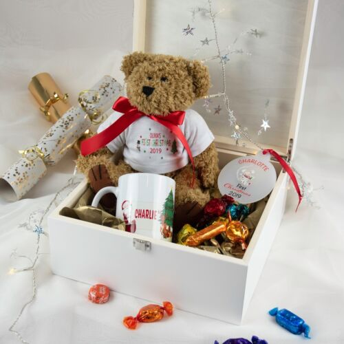 Personalised My First Christmas Teddy Bear Babies 1st Christmas Christmas Tedd