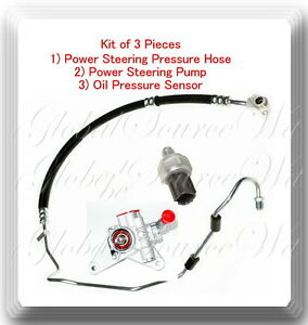 Image Is Loading 3 Pc Power Steering Pump Pressure Hose Amp