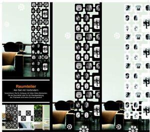 Raumteiler-Foto-in-weiss-4-er-Set-ca-1-60m-x-40cm-erweiterbar-Fotogalerie-Wand