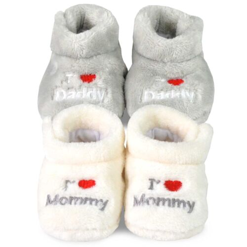 TeeHee Kids Fun and Cozy Rabit Fleece Booties for Infant Baby and Toddler