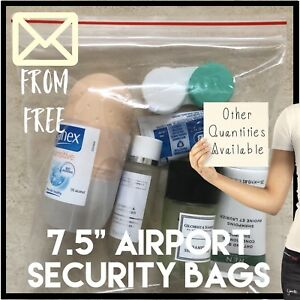 Ten-Airplane-Security-Hand-Luggage-Resealable-Plastic-Bags-Travel-Shampoo
