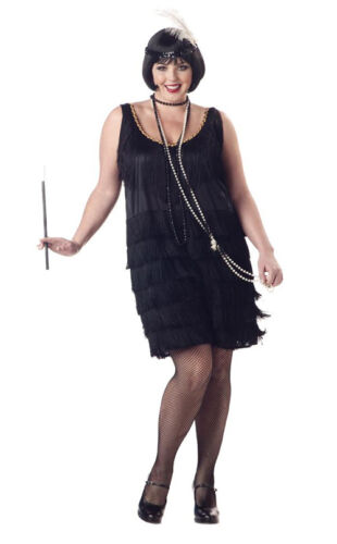 Roaring 20/'s Fashion Flapper Gangster Adult Plus Size Costume
