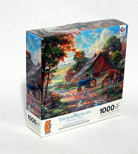 Thomas Kinkade Summers Heritage 1000 Piece Puzzle by Ceaco Rare Sealed