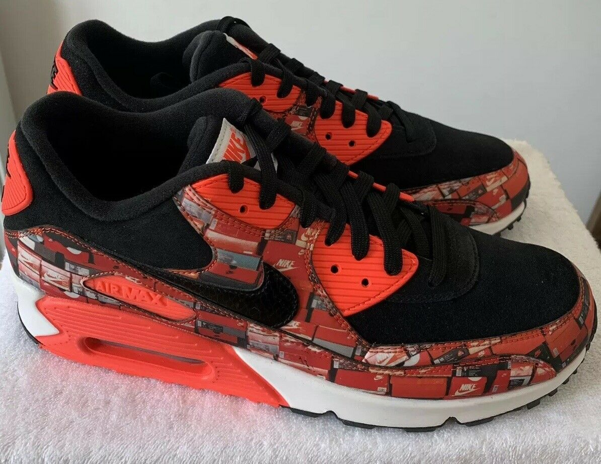 Nike x Atmos Air Max 90 Box Print We Love Nike taille UK 11