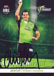 ✺Signed✺ 2016 2017 SYDNEY THUNDER Cricket Card CLINT MCKAY Big Bash League