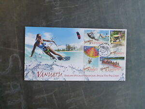2014-VANUATU-EXTREME-OUTDOORS-SET-4-STAMPS-FDC-FIRST-DAY-COVER