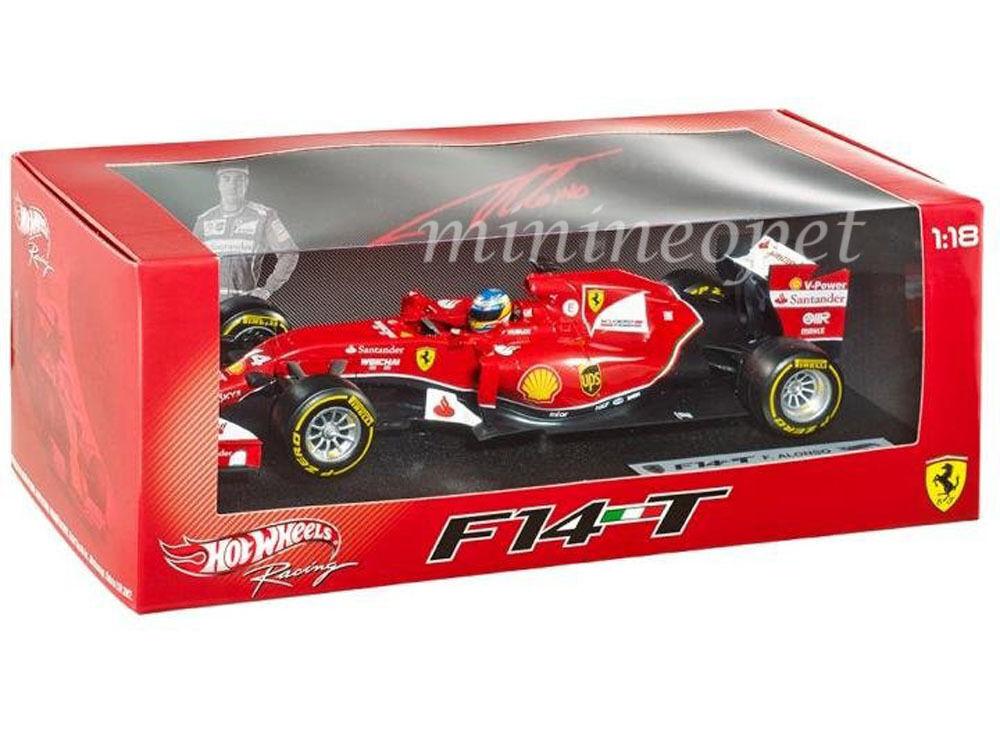 Hot wheels bly67 2014 formel 1 ferrari f f14 t 1   18 nein fernando alonso