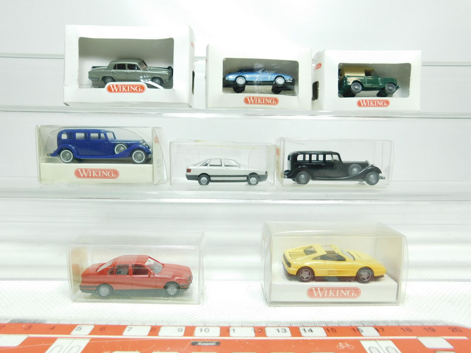 BK19-0, 5 x Wiking H0   1 87 Car  837 +100 +215+189+825 Horch +193 +121, Nip