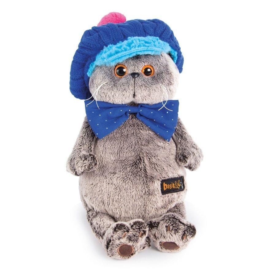 Scottish Fold Kitty Cat and a Cap Plush Stuffed Soft Toy 11.8'' Budi Basa Basik