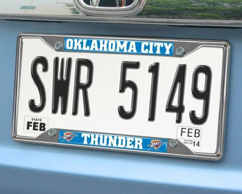New NBA Oklahoma City Thunder Car Truck Premium Chrome Metal License Plate Frame