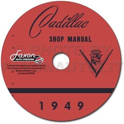 1949 Cadillac Shop Manual CD 49 Series 61 62 60 Fleetwood 75 86 Repair Service