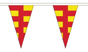 Northumberland Triangle Bunting 12 flags on this 5 meter Long Bunting
