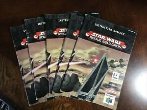 Star Wars Rogue Squadron Nintendo 64 N64 Instruction Manual Booklet ONLY