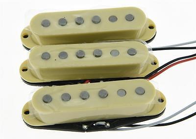 Set of 3 N/M/B Cream Alnico 5 Single Coil Pickups ST Strat SSS Pickup Set