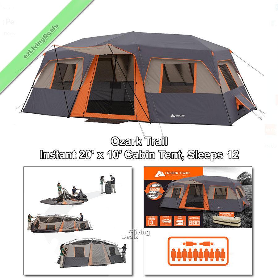 12 Person Ozark Trail Instant Cabin Tent 3rm 20x10