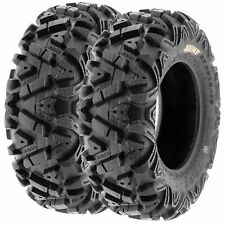 Pair of 2, 24x8-12 24x8x12 Quad ATV All Terrain AT 6 Ply Tires A033 by SunF