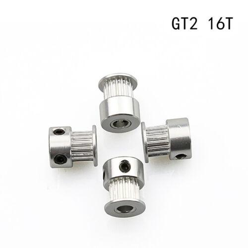 5//10Pcs GT2 16 T Teeth 5mm Bore Aluminum Timing Belt Pulley For 3D Printer Parts