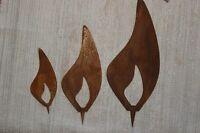 Flamme Aus Metall - Edelrost, I.3 Größen Erhältl.♥z.aufstecken♥kerzenflamme Deko