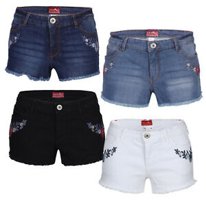 Women/'s Stretchy Denim Shorts Jeans Hot Pants Skinny Turn-up shorts