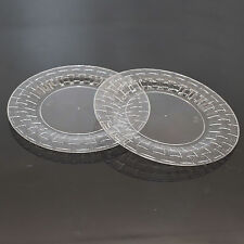 """30 x 6""""/15.24cm Clear Strong Stylish Plastic Side Plates Plates - Bamboo Look"""