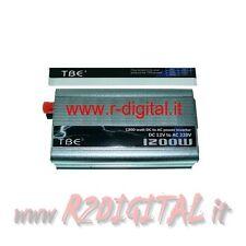 INVERTER 1200W 1200 WATT 12V 220V AUTO CAMPER CAVI PINZE ACCENDISIGARI PORTATILE