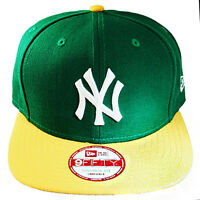 Era York Yankees Snapback Hat Green Yellow 2tone Color Cap