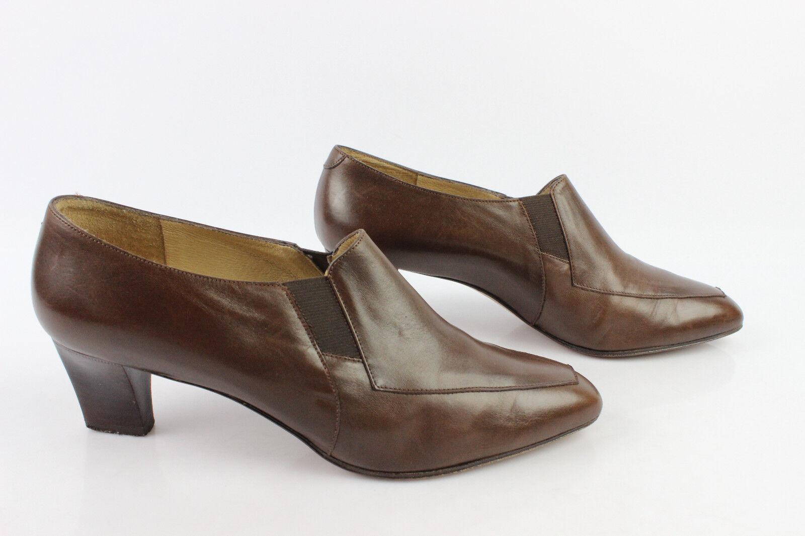 VINTAGE Zapatos Richelieu T MINELLI En Piel vacuno Marrón T Richelieu 38 MUY BUEN ESTADO 0e8584