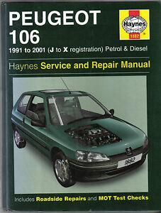 peugeot 106 petrol diesel 1991 2001 haynes service repair manual rh ebay co uk Peugeot 106 Quicksilver Peugeot 306