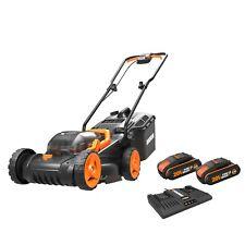 WORX WG779E.2 40V MAX (x2 20V Batteries) Cordless Lawn Mower 34cm