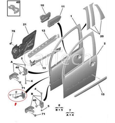 CITROEN C3 Porta Controllo Collegamento Cinturino stropper ANTERIORE SINISTRA O DESTRA 9181H1