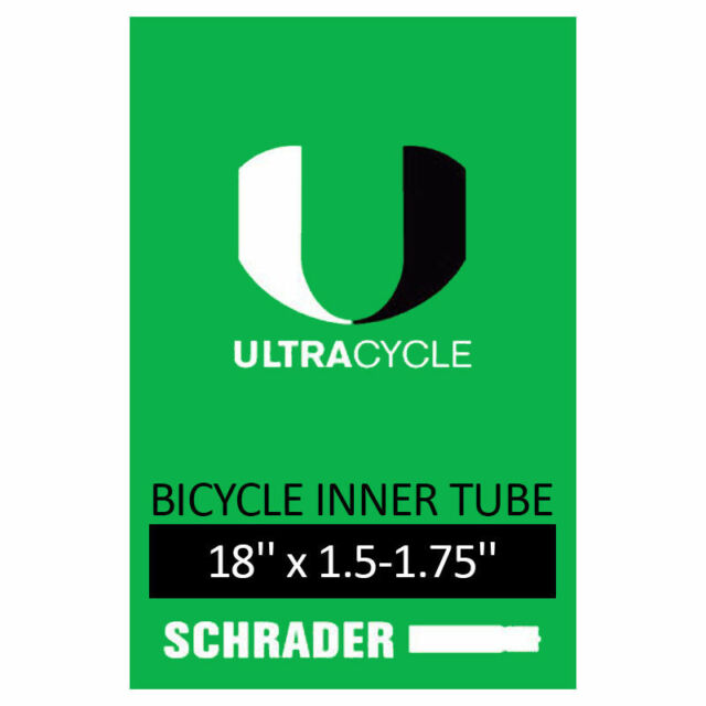 "Black New UltraCycle 20/"" x 1.5-1.75/"" Schrader Valve Inner Tube Bicycle Bike"