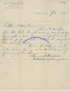 Early-Yankton-South-Dakota-letter-by-Thomas-Marshall-North-Dakota-Congressman