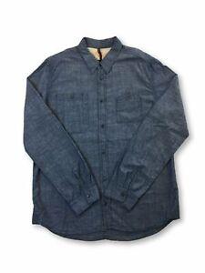 Nudie-Jeans-regular-cotton-shirt-in-denim-blue-XL