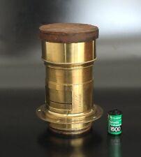 early!! Antique Ross London Petzval Brass Lens 280mm F3.5 wet plate 5x7 8x10