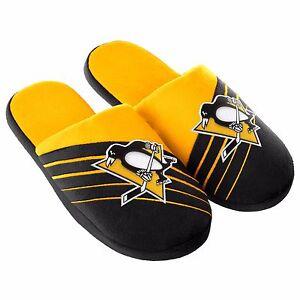 e438ce4033af Image is loading Pair-Pittsburgh-Penguins-Big-Logo-Slide-Slippers-Team-