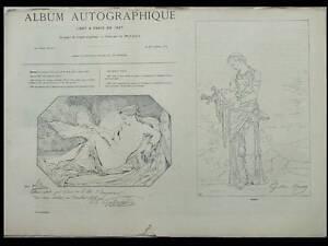 Album Autographique 1867 - Gustave Moreau, Dantan Verlat Monnier De La Sizeranne DernièRe Technologie