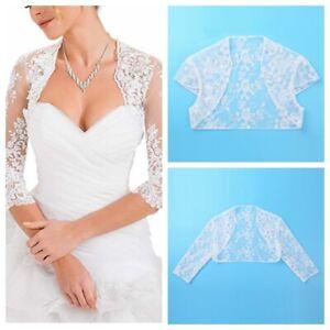 Women-Sheer-Lace-Top-Bolero-Elegant-Cardigan-Open-Front-Crop-Shawl-Shrug-Wedding