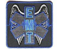 (g26) Winged Emt 3 X 3 Iron On Patch (4930) Emt Medical Star Of Life