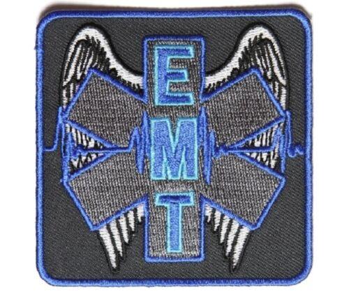 "WINGED EMT 3/"" x 3/"" iron on patch 4930D G26 EMT Medical Star of Life"