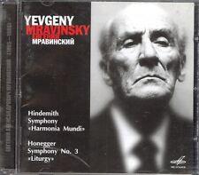 HINDEMITH - Symphony / HONEGGER - Symphony 3 - Yevgeny MRAVINSKY - Melodiya