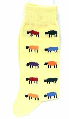 Farmers Blue Sheep Lamb EWE Fun Novelty Mens Cotton mix mens Socks  X6S191