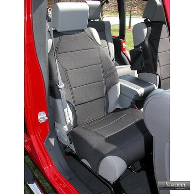 Rugged Ridge 13235.30 Neoprene Front Seat Vests Black  07-15 Jeep Wrangler JK