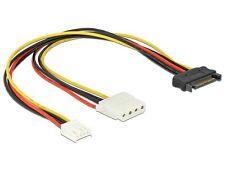 Delock Cable Y- Power SATA male 15 pin > 4pin Molex female + 4pin floppy 30cm